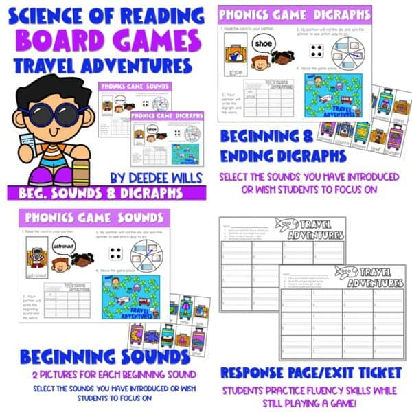 Science of Reading Board Games | Growing Bundle 8