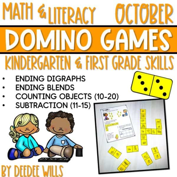 Domino Games | Math and Literacy Center GROWING Bundle 6