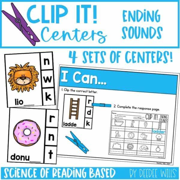 Clip It! Literacy Centers Growing Bundle 5