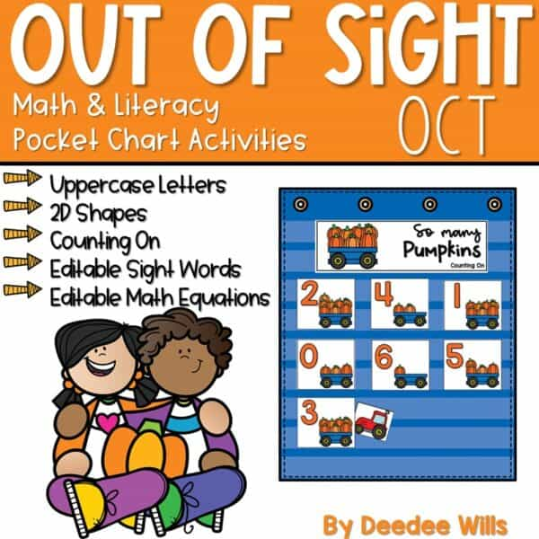 Out of Sight GROWING BUNDLE! | Editable Pocket Chart Games 7