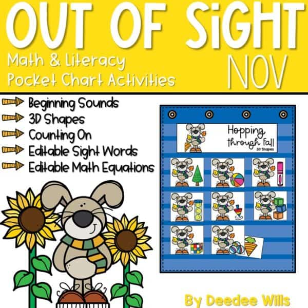 Out of Sight GROWING BUNDLE! | Editable Pocket Chart Games 8