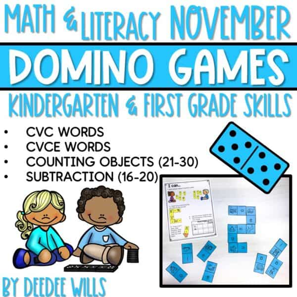 Domino Games | Math and Literacy Center GROWING Bundle 7