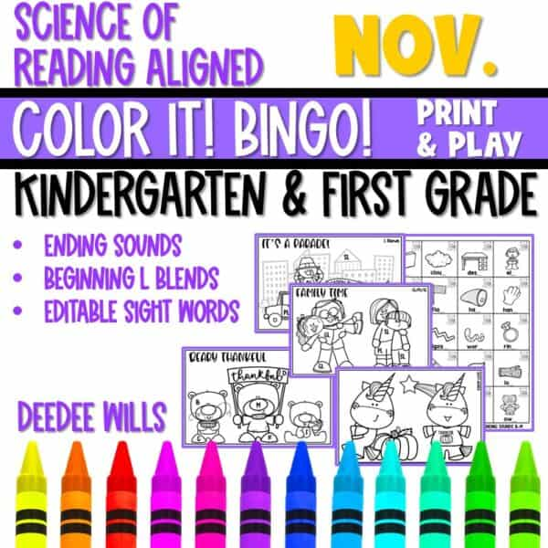 Small-Group Activities | Bingo Games Growing Bundle 7