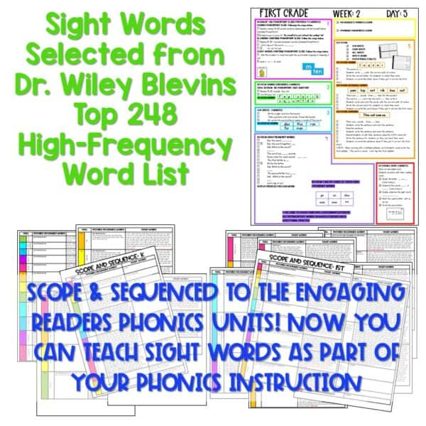 Science of Reading Based Sight Word Instruction   First Grade 4