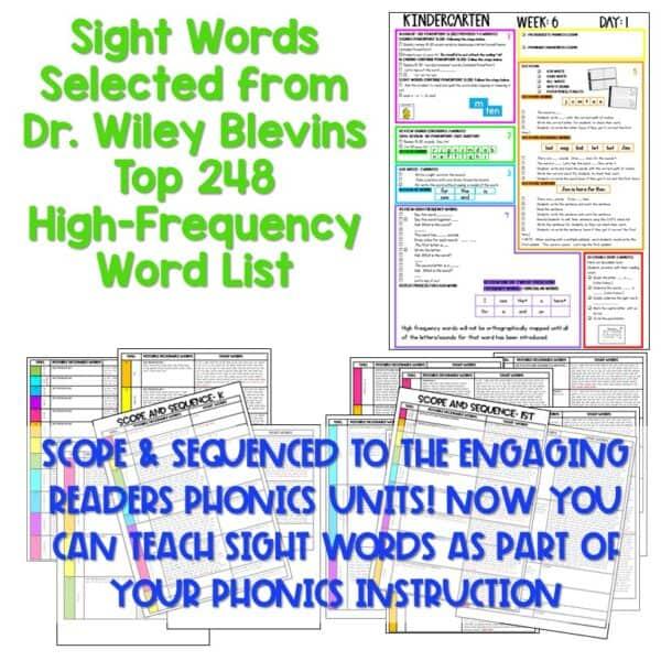 Science of Reading Based Sight Word Instruction   Kindergarten 4