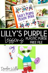Lillys Purple Plastic Purse lesson plans ideas for kindergarten and first grade. Students respond to the book during reading and interactive writing. Predicting, character analysis and more! Fun week of activities for your Kevin Henkes author study!