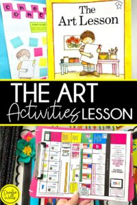 The Art Lesson by Tomie dePaola Classroom Activity Ideas. These kindergarten lesson ideas are a great way to foster student discussion and oral language. Reading comprehension lessons such as visualization, retelling, making connections, inferring, and opinion writing too! Take a peek at the week-long lesson ideas plus a free downloadable lesson plan template! Lesson planning made easy!